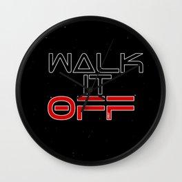 Walk it off Wall Clock