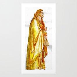 Life of Christ 'Judas Betrayal' figure interpretation Art Print