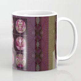 Red Shiso Positive Messages Quilt Art Coffee Mug