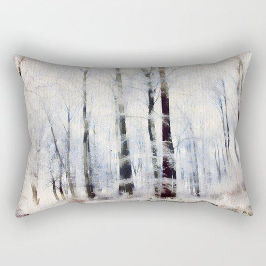 Winter landscape Aquarell Rectangular Pillow
