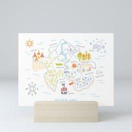 Neverland Map Color Mini Art Print