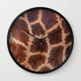 Giraffe Fur Wall Clock
