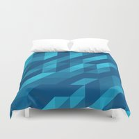 polygon Duvet Covers featuring Polygon Five by Jambot