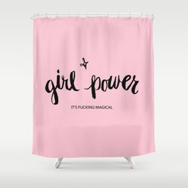 Girl Power - Effing Magical Shower Curtain