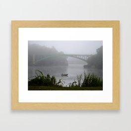 Foggy Fishing Day on the Delaware River Framed Art Print