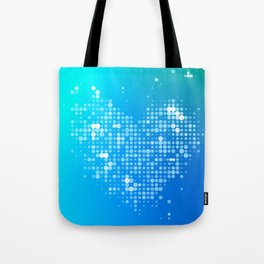 Heart2 Blue Tote Bag