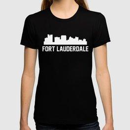 Fort Lauderdale Florida Skyline Cityscape T-shirt