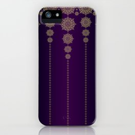 Violet & Gold Mandala Medallions iPhone Case