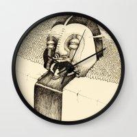 fall Wall Clocks featuring 'Fall' by Alex G Griffiths