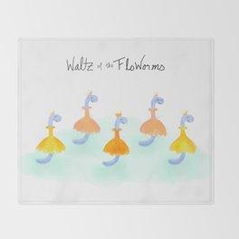 Waltz of the FloWorms Throw Blanket