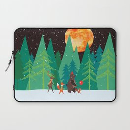 Take a walk under the moon Laptop Sleeve