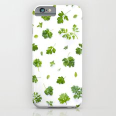 Herbs on White - Landscape iPhone 6s Slim Case
