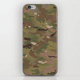 Military Woodland Camouflage Pattern iPhone Skin