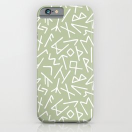 Scrambled Runes III iPhone Case