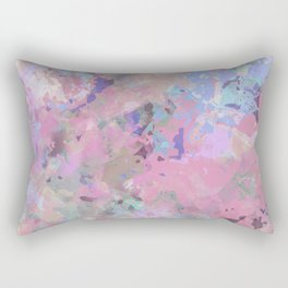 Pink Blush Abstract Rectangular Pillow