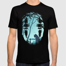 Lonely Spirit MEDIUM Mens Fitted Tee Black