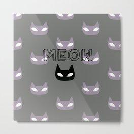 cats play Metal Print