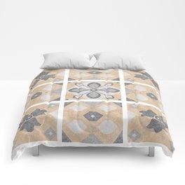 Terracotta Vintage Tiles Design Comforters