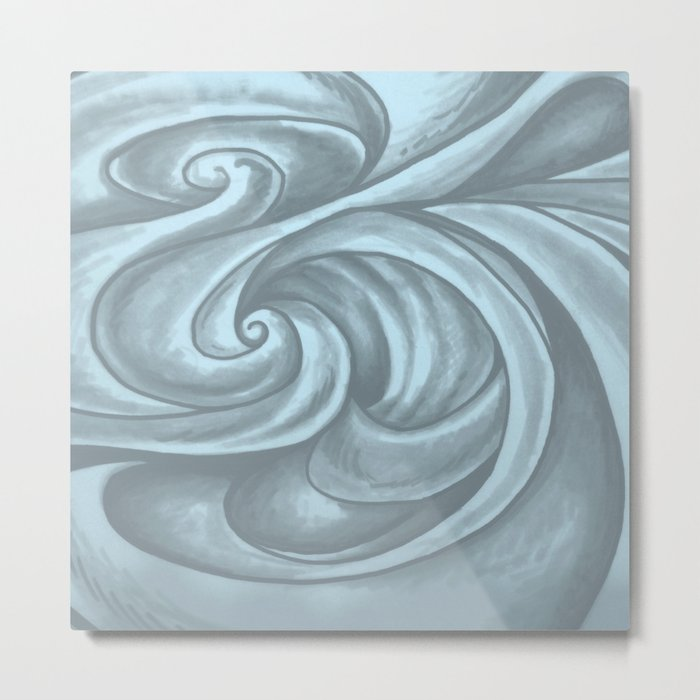 Swirl (Gray Blue) Metal Print