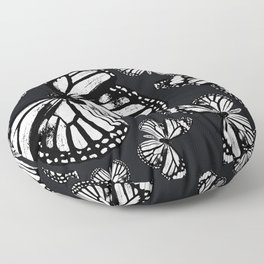 Monarch Butterflies | Monarch Butterfly | Vintage Butterflies | Butterfly Patterns | Black and White Floor Pillow