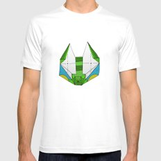 Space cat Joe White MEDIUM Mens Fitted Tee
