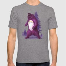 Scare Bear Tri-Grey Mens Fitted Tee X-LARGE