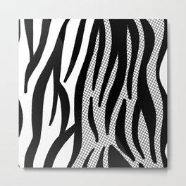 Timeless Zebra Pattern Abstract Metal Print