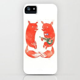 Mister Fox in love iPhone Case