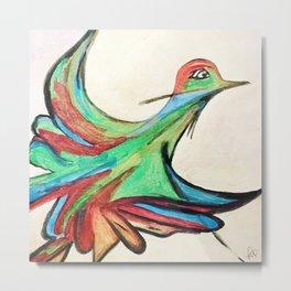Aquarela bird Metal Print