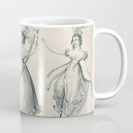 The Dancers, young women, black white drawing Coffee Mug