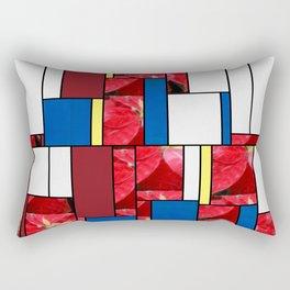 Mottled Red Poinsettia 2 Art Rectangles 4 Rectangular Pillow