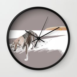 Wolves of the World: Russian Wolf (Canis lupus communis) (c) 2017 Wall Clock