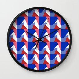 El Blue Cruce Wall Clock