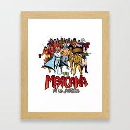 Liga de la justicia mexicana Framed Art Print