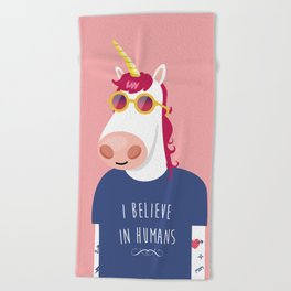 I believe in Humans Beach Towel
