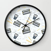 math Wall Clocks featuring Math by S. Vaeth