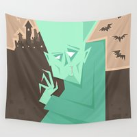 vampire Wall Tapestries featuring Vampire by 5wingerone