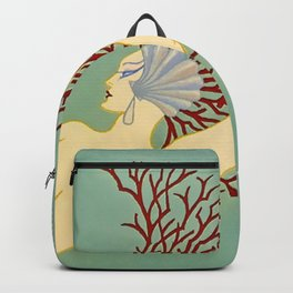 "Art Deco Illustration ""Water"" Backpack"