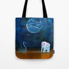 Earth meeting Sky - on Fullmoon Night Tote Bag