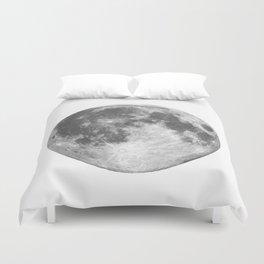 Full Moon phase print black-white monochrome new lunar eclipse poster home bedroom wall decor Duvet Cover
