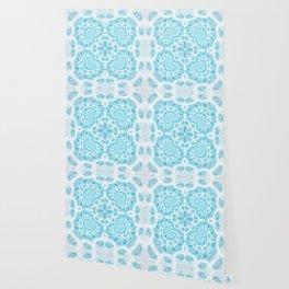 Blue Square Mandala Wallpaper