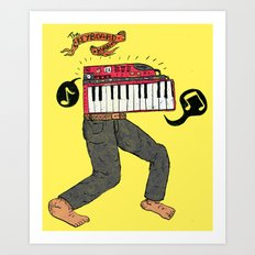 The keyboard man Art Print
