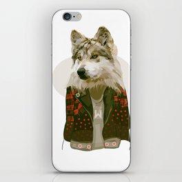 wolf jacket iPhone Skin