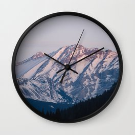 Golden Hour in the Rockies Wall Clock