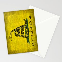 Gadsden Don't Tread On Me Flag - Worn Grungy Stationery Cards
