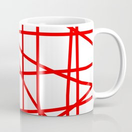 Doodle (Red & White) Coffee Mug