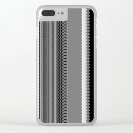Gray Stripes Abstract Clear iPhone Case