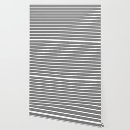 Horizontal Lines (White/Gray) Wallpaper