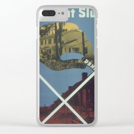 Vintage poster - Cross Out Slums Clear iPhone Case