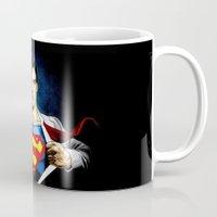 superman Mugs featuring Superman by DavinciArt